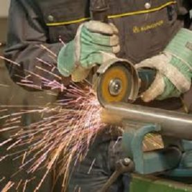 Cutting pipe with angle grinder using Klingspor abrasive disc