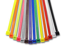 Various colours of cable ties