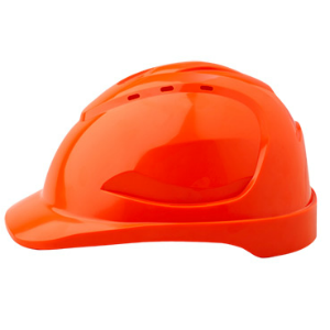 Unvented Hard Hat Ergonomically designed 6 point harness Long Peak for added protection with rain deflection
