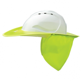 UV stabilised plastic, removable and washable neck flap Holds shape in hot and wet climates