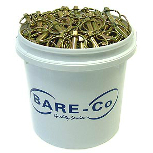 Bucket of Bare and Co Linch pins