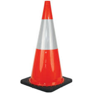 Traffic cone barrier reflective