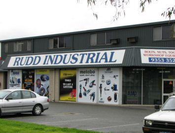 Historical image of the old Rudd Welshpool store front