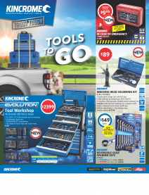 Front page of the September October 2019 Kincrome catalogue
